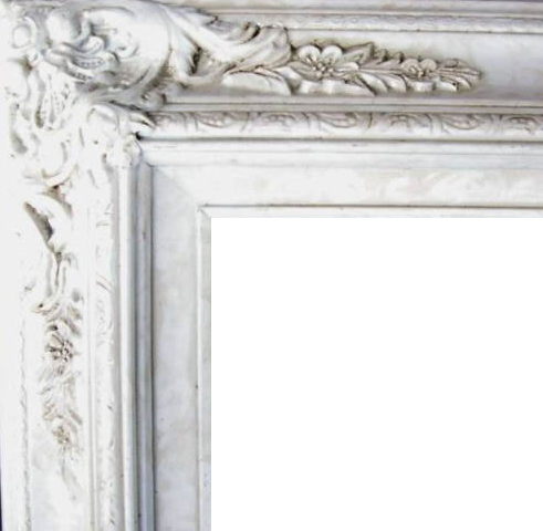 4.5 Inch Wide Ornate Pine Frame Marble