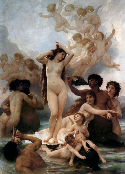 Museum Quality Oil Painting #PD 124: Birth of Venus Nude Men & W