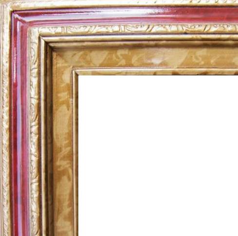 3 Inch Wide Deluxe Pine Frame Red Marble