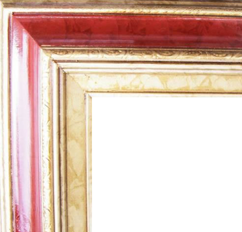 4.5 Inch Wide Deluxe XL Pine Frame Red Marble