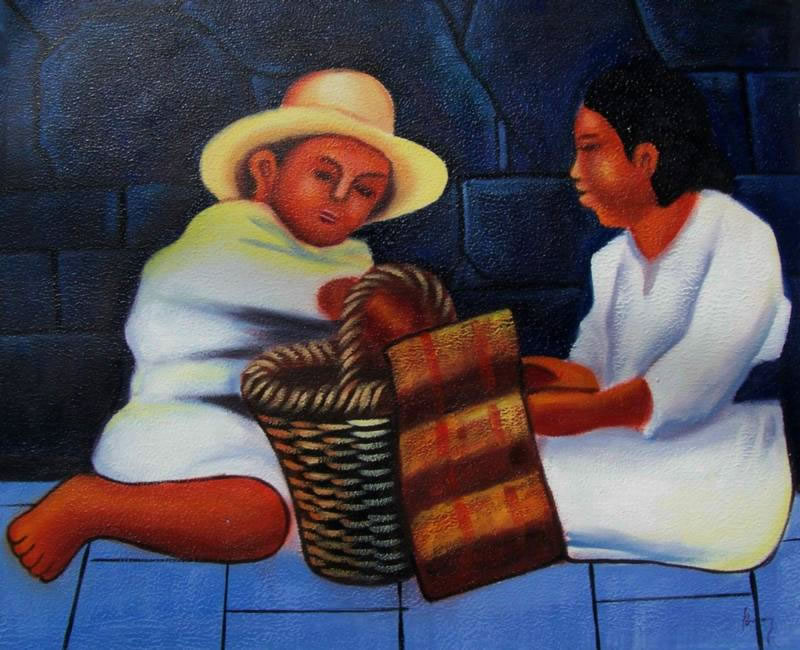 Mexican Art Oil Painting #RV025-650:Diego Rivera Mexican Art Chi