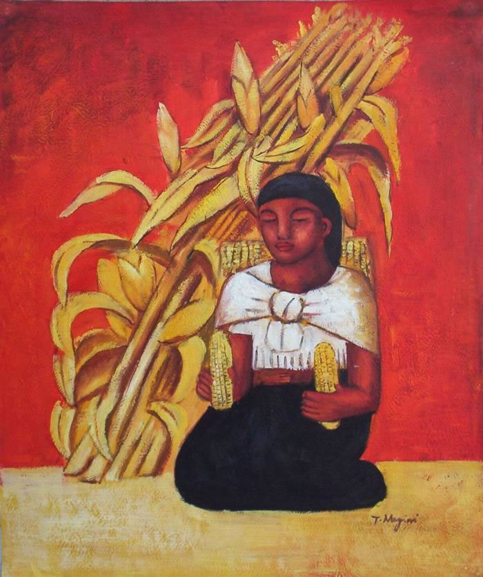Mexican Art Oil Painting #RV030-652:Diego Rivera Mexican Art Cor