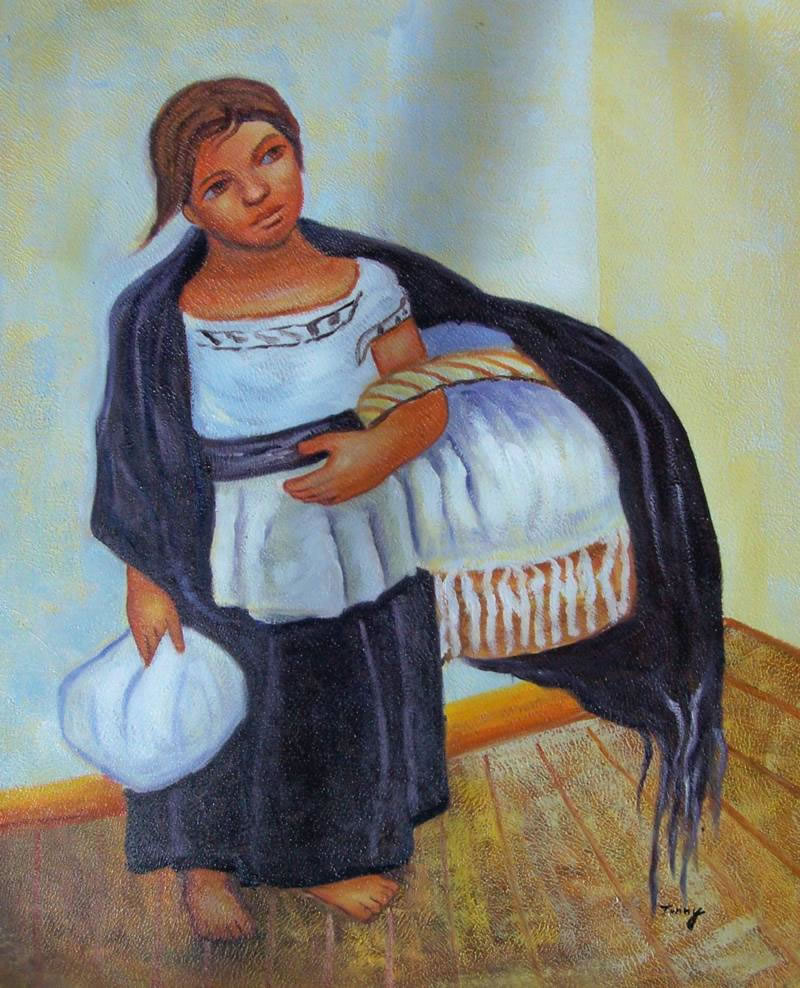 Mexican Art Oil Painting #RV032-653:Diego Rivera Mexican Art Mex