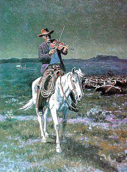 American Southwest Oil Painting #SCB124:Cowboy Riding Horse Play