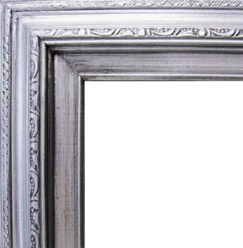 3 Inch Wide Deluxe Pine Frame Silver