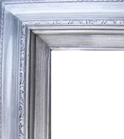 4.5 Inch Wide Deluxe XL Pine Frame Silver