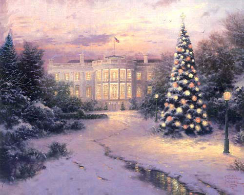 Christmas Scenes Oil Painting #SN009:Snowscape Christmas Scene T
