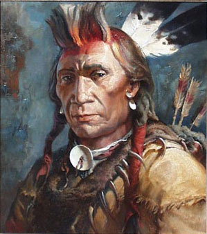 American Southwest Oil Painting #cb-1-08: Native American Indian