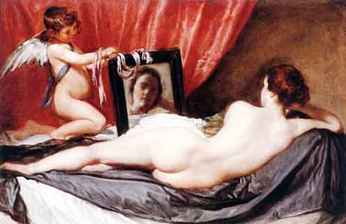 Museum Quality Oil Painting#CST-125:Cupid with Woman Nude