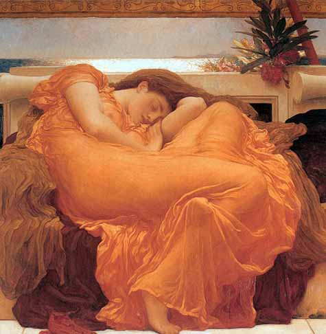 Museum Quality Oil Painting#CST-138: Flaming June by Frederick L
