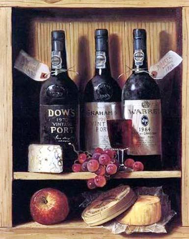 High Still Life Oil Painting #CST-11:Still Life Paintings Wine &