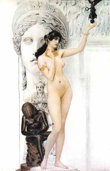 Museum Quality Oil Painting#CST-115:Nude Godess Woman Statue