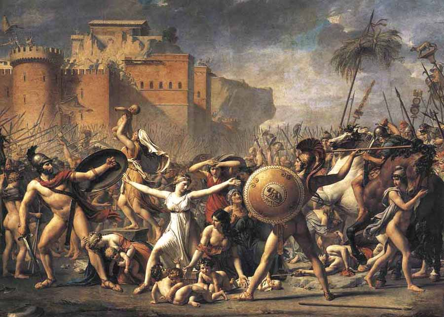 Museum Quality Oil Painting#CST-117:Roman Greek Battle War