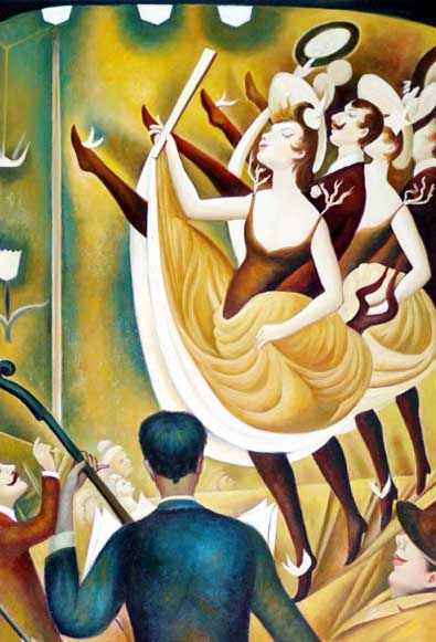 Modern Portraits Oil Painting #CST-024: French Dancers