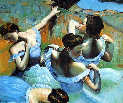 Modern Portraits Oil Painting #CST-025: Ballet Dancers