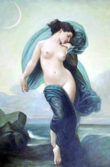 Museum Quality Oil Painting#CST-86:Nude Angelic Woman