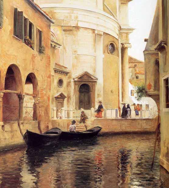 Museum Quality Oil Painting#CST-98:Venice by Julius LeBlanc Stew
