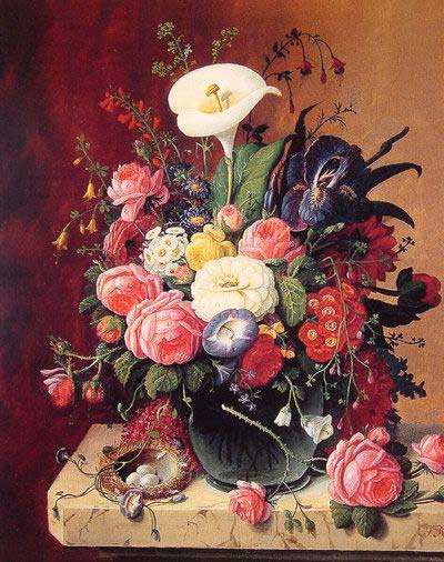High Quality Flower Oil Painting #f096:Still Life Flowers Floral