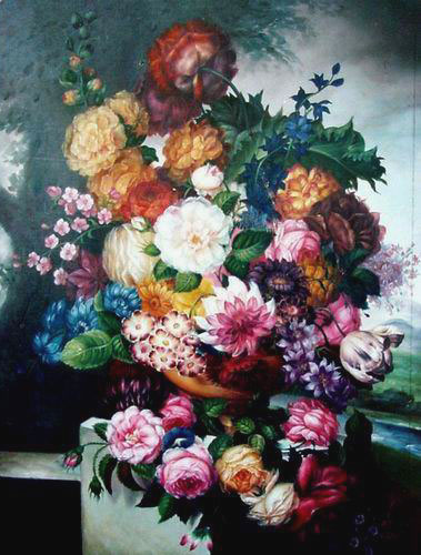 High Quality Flower Oil Painting #f104:Floral Assortment Bouquet
