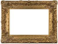8 Inch Wide Majestic Frame in Gold