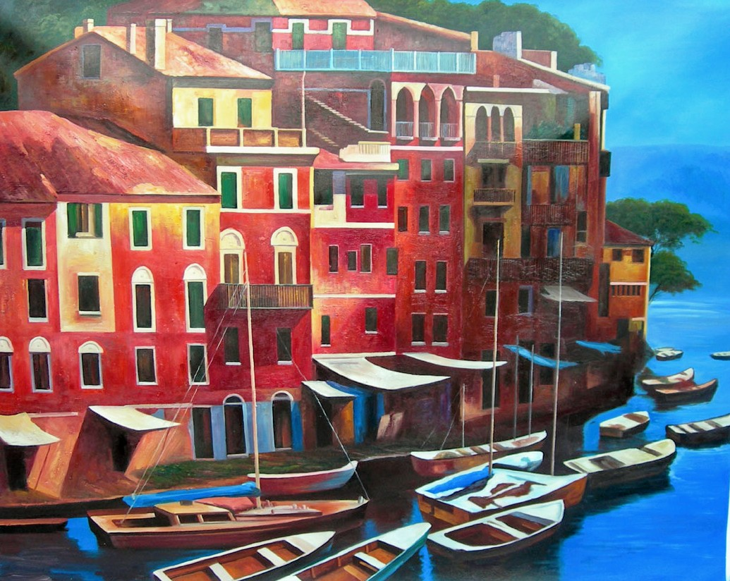 Art gallery and art galleries oil painting replicas from for Oil paintings of houses