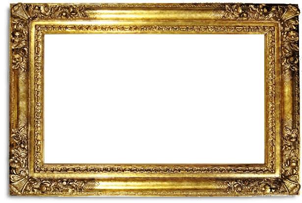 6 Inch Wide Franklin Frame In Gold